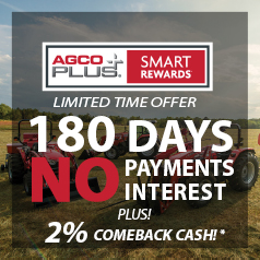AGCO Plus Smart Rewards 180 Days Offer